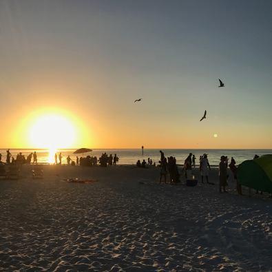 Sunset on the beach, Florida, USA
