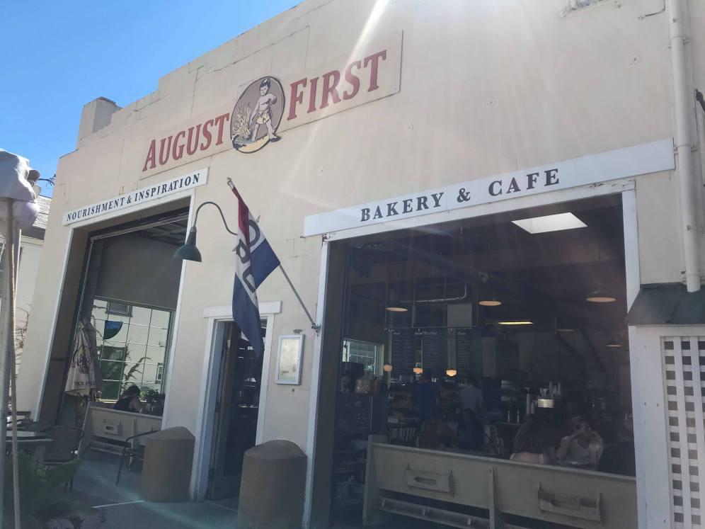 The facade of the bakery
