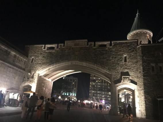 Night time in Old Quebec