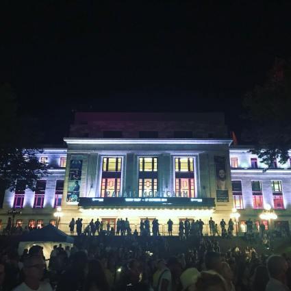 Palais Montcalm at night