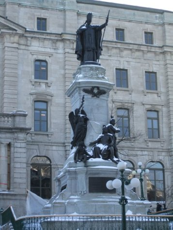 Winter statues