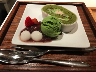 Green tea ice-cream