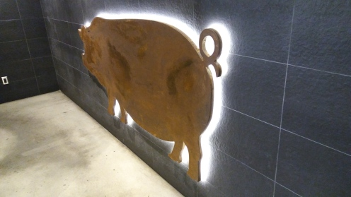 Pig logo on the wall...