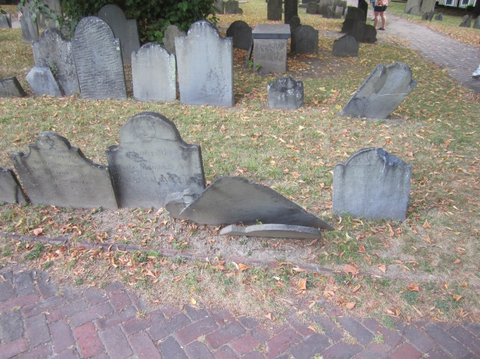 Faded grave markers (2)