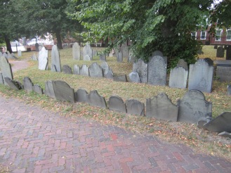 Faded grave markers (3)