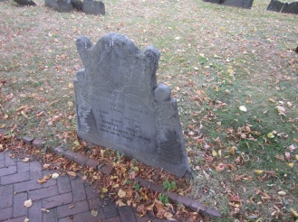Faded grave markers (4)