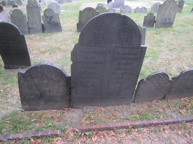 Faded grave markers
