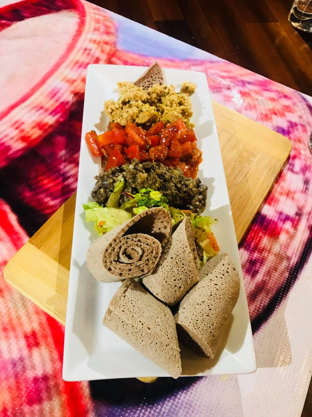 Injera with Appetizers