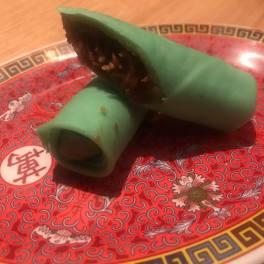 Kueh dadar - a crepe with shredded cocunut