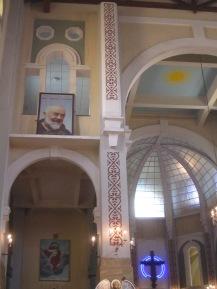 Detail inside the church