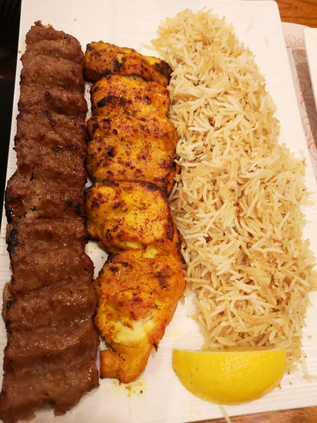 Waziri kabab - grilled chicken and beef
