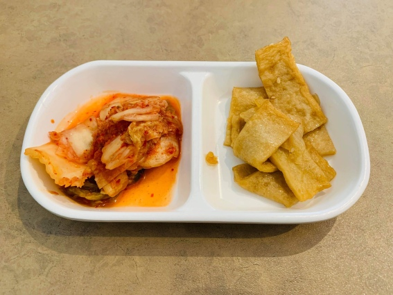 Kimchee and fish strips
