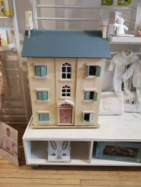 Big wooden dollhouse