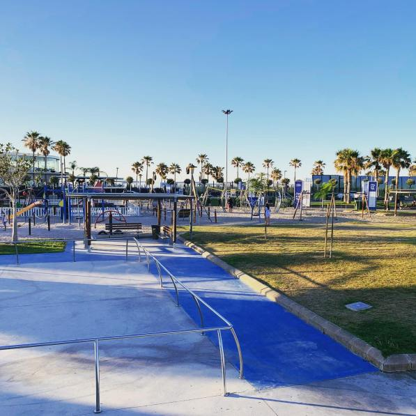 Skating area